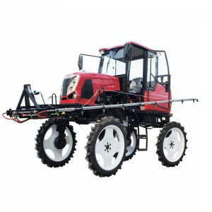 Self-propelled sprayer for rice fields