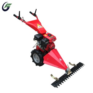 Italy technology mini farm walk hehind garden tractor oil bath sickle bar mower